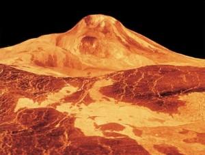 Radarbild der Venus-Oberfläche Quelle: ESA