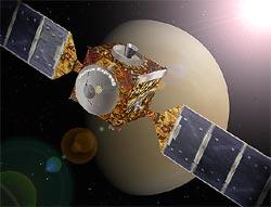 Künstlerische Darstellung von Venus Express Quelle: ESA