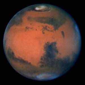 Der Planet Mars, Aufnahme vom Hubble Space Telescope Quelle: NASA